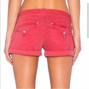 Hudson Hampton cuffed shorts short dusty rose red